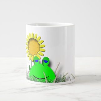 Jumbo Soup Frog and Sunflower Giant Coffee Mug