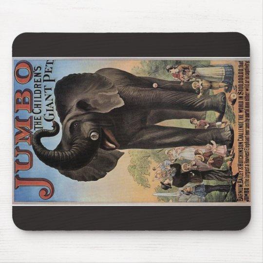 Jumbo The Giant Elephant Retro Theater Mouse Pad