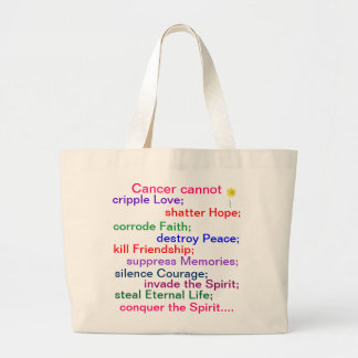 Jumbo Tote Bag - Cancer cannot....