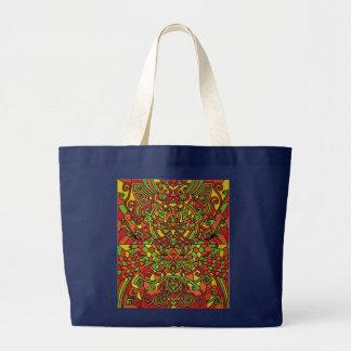 Jumbo Tote Bag with Himalayan Inspirations