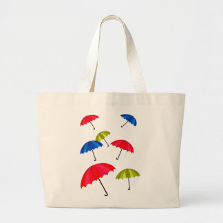 Jumbo Tote Bag with Uplifting Umbrella Design