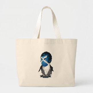 Jumbo Tote. Robert Burns, a Great Scot! Large Tote Bag