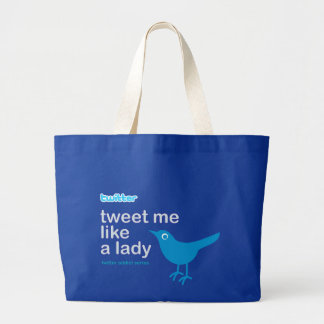Jumbo Tote Twitter Lady Jumbo Tote Bag
