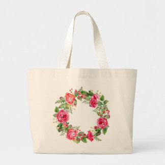 Jumbo Tote with a Floral Design