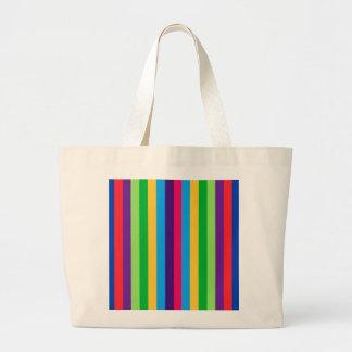 Jumbo Tote with Fun Stripes