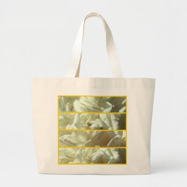Beach Themed Jumbo tote with luscious rose motif
