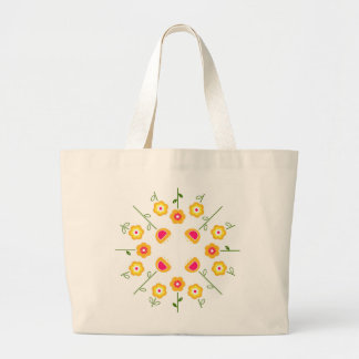 Jumbo tote with Yellow flowers