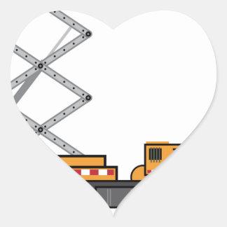 Jumbo Truck lift Heart Sticker