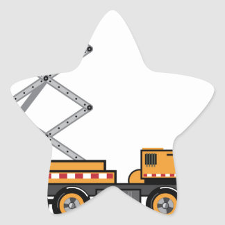 Jumbo Truck lift Star Sticker