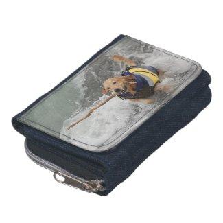 Jumele Denim Denim Wallet with Coin Purse
