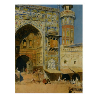 Jumma Musjed Lahore India by Edwin Lord Weeks Postcard