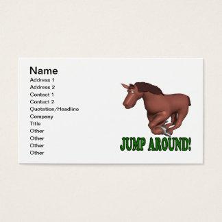 Jump Around Business Card