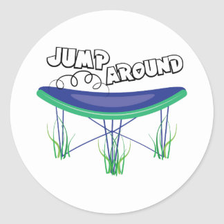 Jump Around Classic Round Sticker