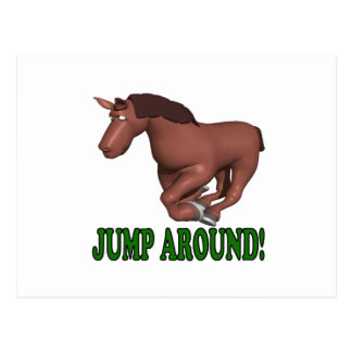 Jump Around Postcard