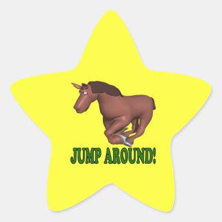 Jump Around Star Sticker