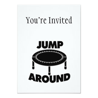 Jump Around Trampoline Card