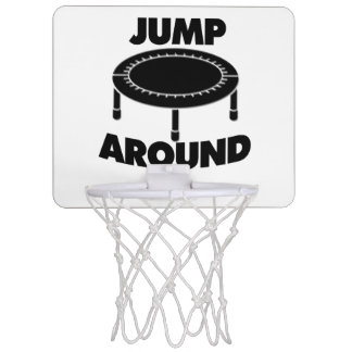 Jump Around Trampoline Mini Basketball Hoop