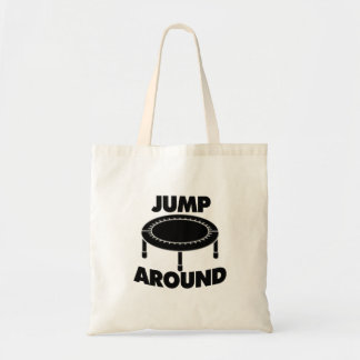 Jump Around Trampoline Tote Bag