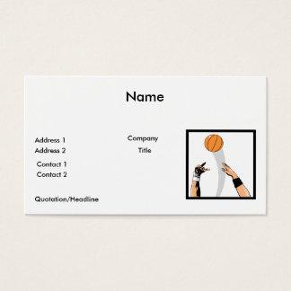 jump ball basketball design business card