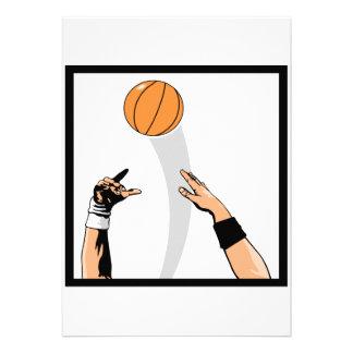jump ball basketball design invite