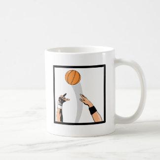 jump ball basketball design mugs