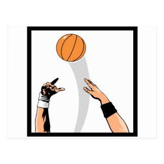 jump ball basketball design postcard