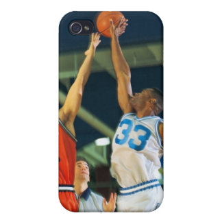 Jump ball in basketball game case for iPhone 4