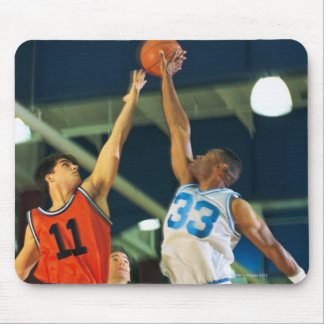 Jump ball in basketball game mouse pad