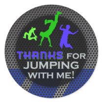 Jump Birthday Boy Matching Thank You Stickers