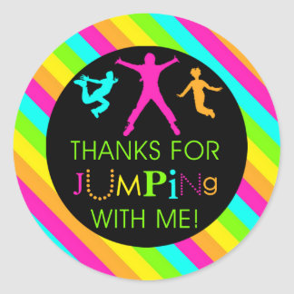 Jump Birthday Girl Matching Thank You Stickers