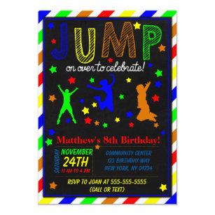 jump party invitations zazzle