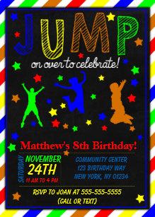 Jump party invitations zazzle jump birthday party invitation for a boy stopboris Images