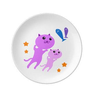 Jump Cat Dinner Plate