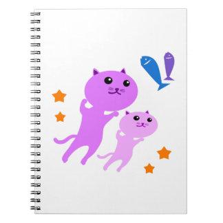 Jump Cat Spiral Notebook