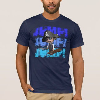 Jump! Crazy 3d Pirate Walks the Plank T-Shirt