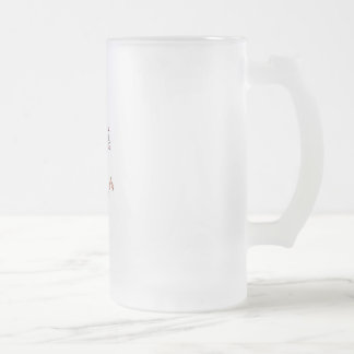 Jump for it frosted glass beer mug
