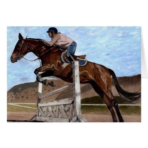 Jump For It! Horse Greeting Card