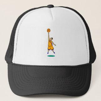 Jump for it orange blue boy trucker hat