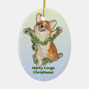 corgi christmas ornament - Corgi Christmas Ornaments