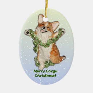 Jump for Joy! Corgi Christmas Ornament