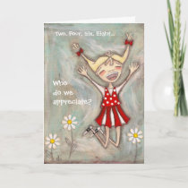 Jump for Joy - Thank You CArd