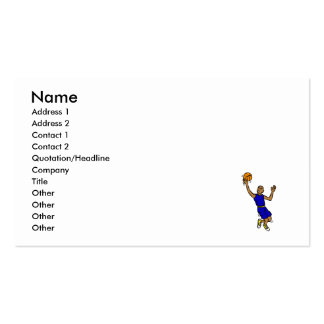 Jump for the shot Double-Sided standard business cards (Pack of 100)