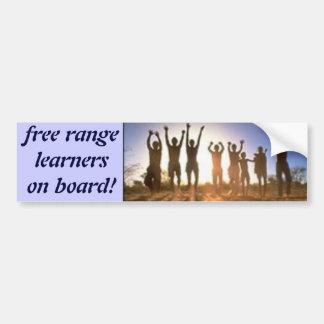 JUMP free rangelearnerson board Bumper Stickers