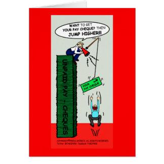 JUMP HIGHER brilliant sarcastic cartoon Card