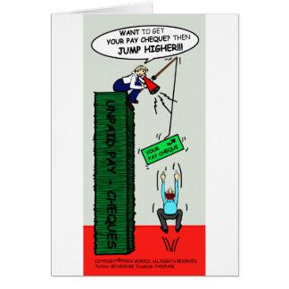 JUMP HIGHER brilliant sarcastic cartoon Greeting Card