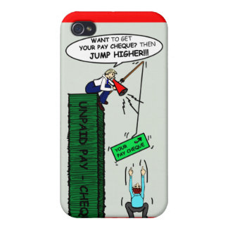 JUMP HIGHER brilliant sarcastic cartoon Cover For iPhone 4
