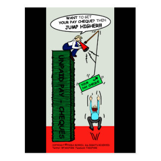JUMP HIGHER brilliant sarcastic cartoon Postcard