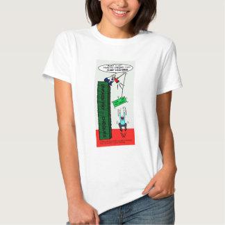 JUMP HIGHER sarcastic brilliant cartoon T-shirt