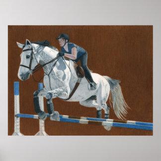 Jump! Hunter/Jumper Horse & Rider Poster
