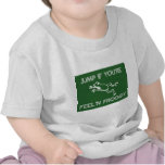 Jump if you're feelin froggy green t shirts